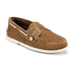 Try on Suede Boat Shoes - V-Style For Men