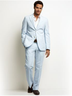 The Light Blue Summer Suit By Banana Republic - V-Style For Men