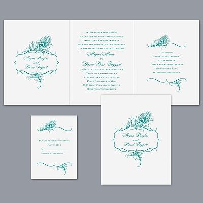 Peacock-invitations