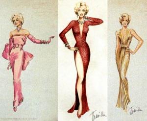 Marilyn-monroe-costume-sketches