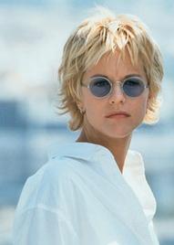 Meg ryan blue round sunglasses