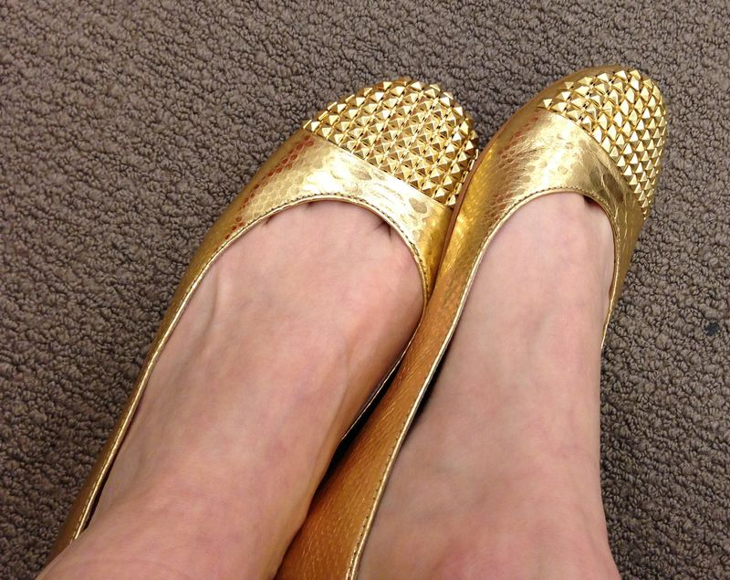 Studded-gold-flats