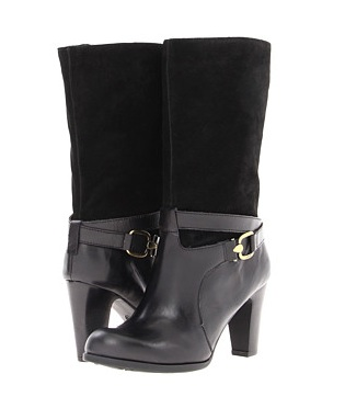 Mid-calf-suede-black-boot