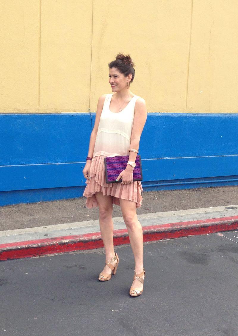 Pink-drop-waist-dress