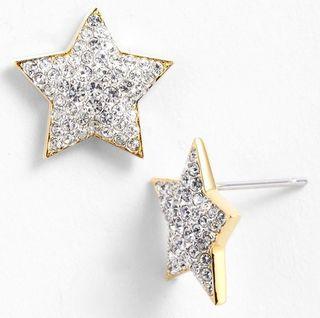 Silver-star-earrings-