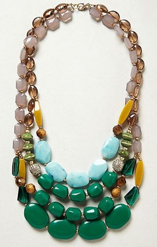 Statement-necklace-with-green-stones