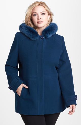 Plus-size-blue coat